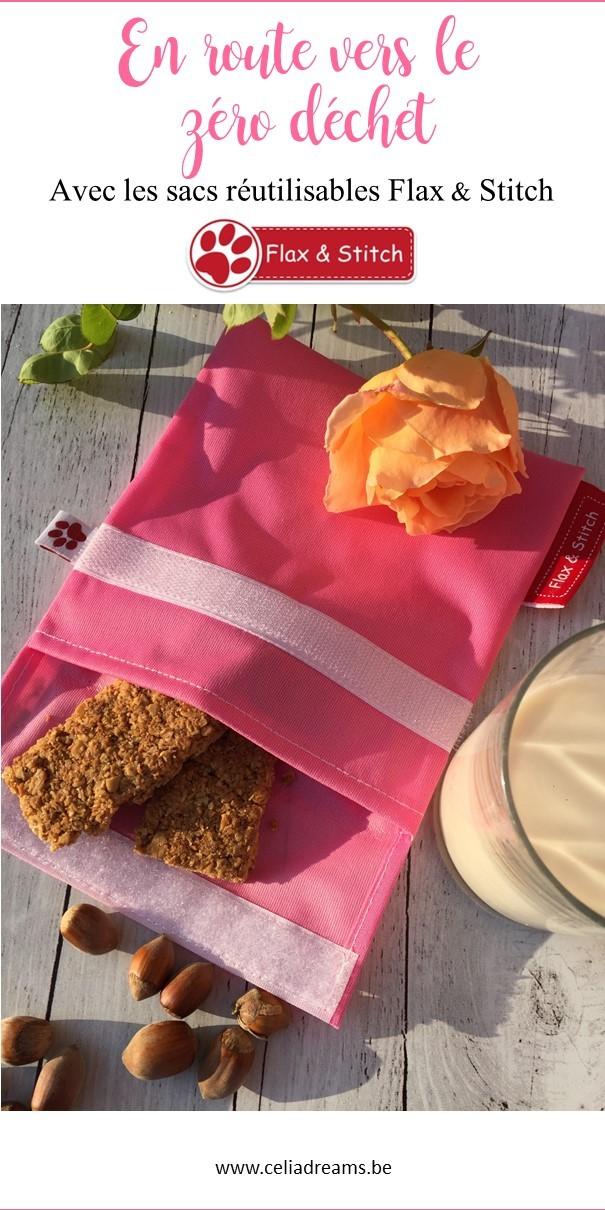 Sacs réutilisables en tissu Flax & Stitch