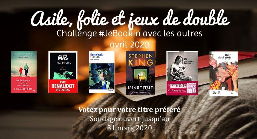 Challenge #JeBookin avec les autres #21 (avril 2020)