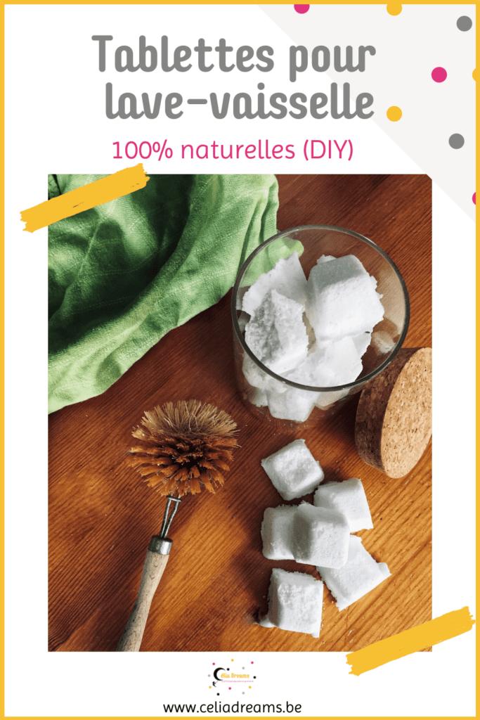 """Recette de tablettes de lave-vaisselle """"maison"""" écologiques et naturelles"""